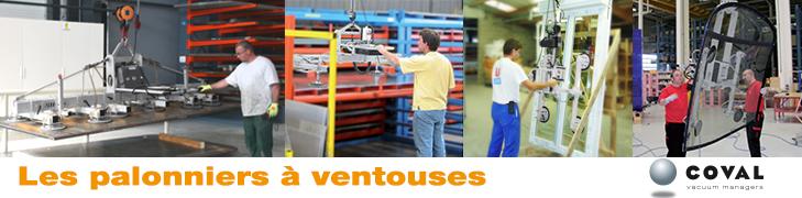 Manutention par le vide : la gamme des palonniers à ventouses COVAL, VACUOGRIP, VAC'easy B, VAC'easy W