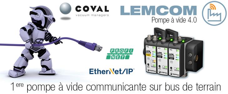 Pompe à vide communicante sur bus de terrain, Série LEMCOM