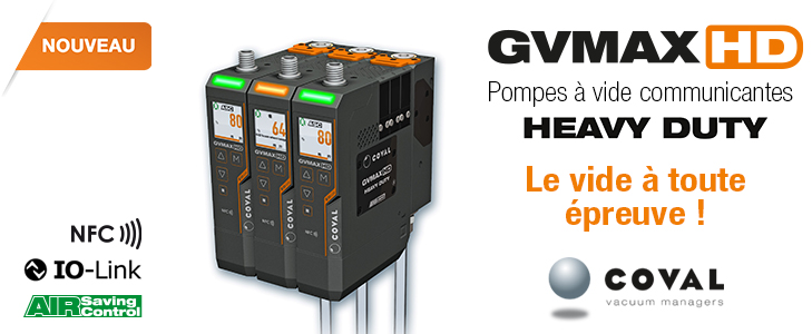 Pompes à vide communicantes Heavy Duty, GVMAX HD COVAL - IO-Link - NFC