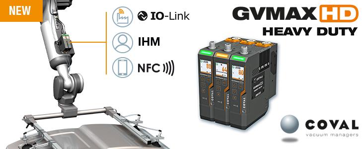 Nouvelles pompes à vide communicantes Heavy Duty de COVAL, série GVMAX HD