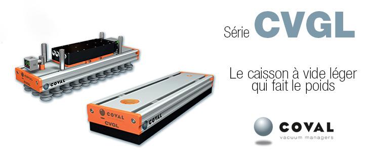 Caissons à vide compacts et légers, Série CVGL COVAL