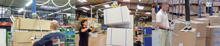 Une gamme d'appareil dédiée à la manipulation de cartons de 10 kg à 300 kg