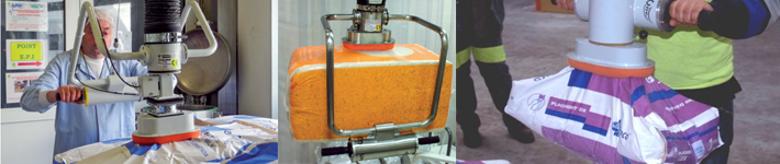 Une gamme d'appareil dédiée à la manipulation de sacs de 5 kg à 50 kg