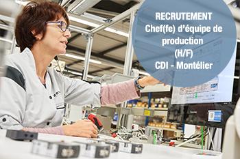 Offre d'emploi n°1901-1 : CHEF(FE) D'EQUIPE DE PRODUCTION (H/F)