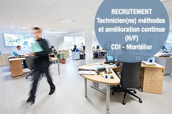 Offre d'emploi n°1902-1: TECHNICIEN(NE) MÉTHODES & AMÉLIORATION CONTINUE