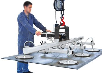 Palonnier à 6 ventouses VACUOGRIP série VGH pour la manipulation à plat de tôles de 100 à 1000 kg