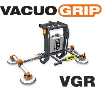 Appareil de manutention par le vide : Palonnier à ventouses pour le pivotement 90° (rotation 90°) de tôles ou panneaux, VACUOGRIP COVAL, série VGR