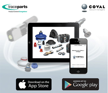 COVAL lance son application mobile avec TraceParts